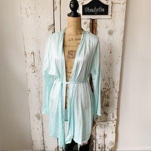 Victoria secret light blue robe